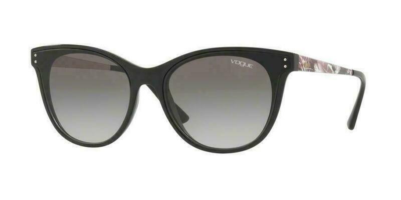 VOGUE VO5205S Butterfly sunglasses black gray lens 62-17-140 RARE & NEW