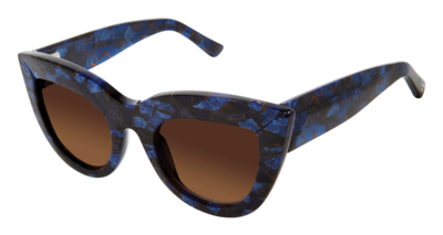 L.A.M.B. LA532 Sunglasses in BLUE-Cateye Case/cloth 50-24-140 Gwen Stefani