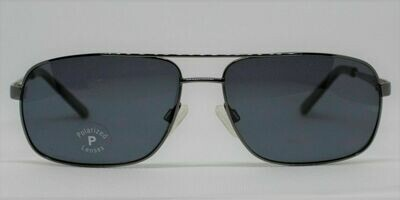 New Stetson Men's Polarized Sunglasses SU8205P Gunmetal- large 59-15-145 Case