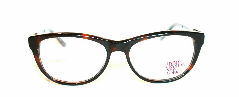New Jimmy Crystal Women's Eyeglass Frame Valletta Tortoise Plastic 53-16-135