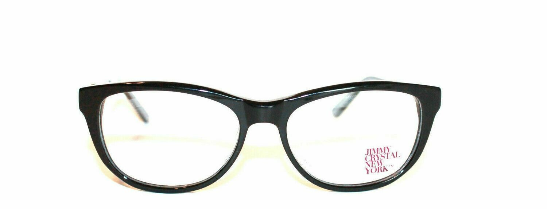 New Jimmy Crystal Women's Eyeglass Frame Valletta Black Plastic 53-16-135