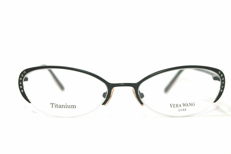 NEW VERA WANG Semi Rimless EPIPHANY II TITANIUM EYEGLASS FRAMES 50-17-135