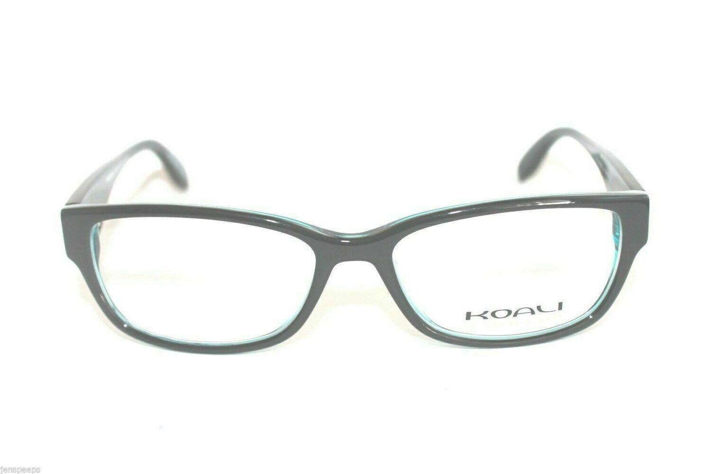 New Koali eyeglass frames 7199 in Black and turquoise eyewear Koali case & cloth
