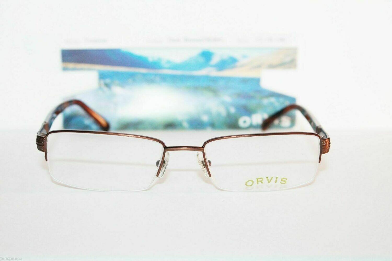 New ORVIS Trenton Semi Rimless in Dark Brown new in package eyewear 53 eye