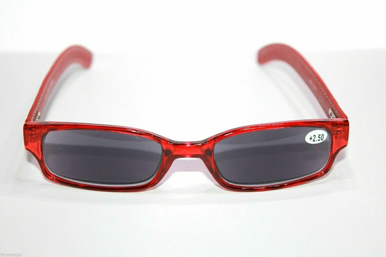 New Nicole Miller +2.50 Sunglass readerRed with Leather temples Reading