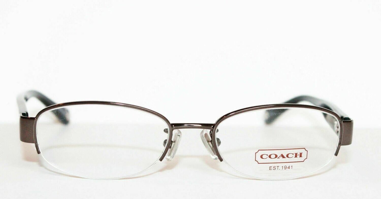 NEW COACH 5030 Betsy eyeglass frames in Dark Silver 9074 50-17-135 Semi Rimless