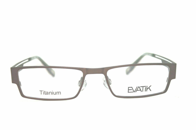 NEW EVATIK 9003 Titanium in Brown Olive 53-18-145 Prescription ready eyeglasses