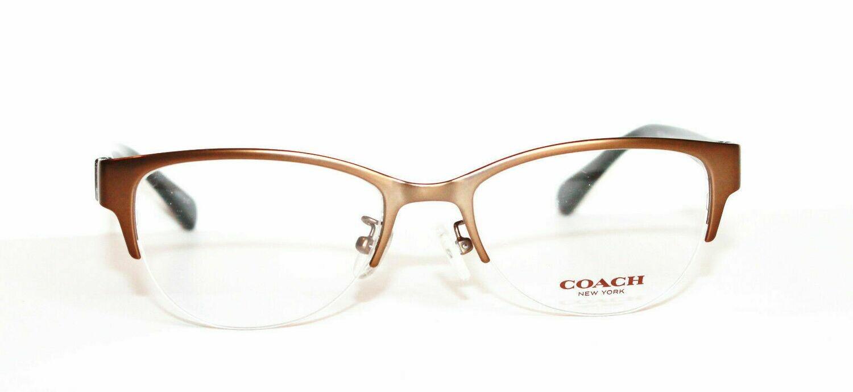 NEW COACH 5078 eyeglass frames in Satin Sand/Tortoise 50-18-135 Semi Rimless