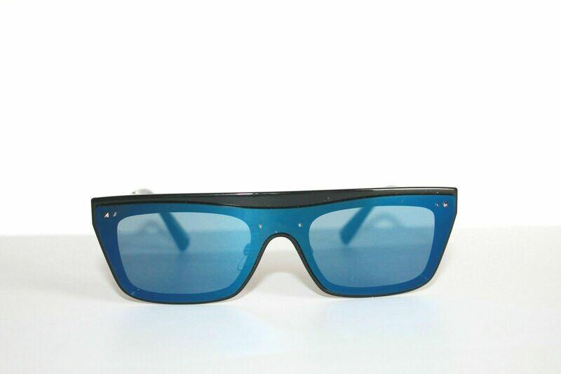 Valentino Blue Black VA4016 Silver Metal 140mm Unisex Sunglasses