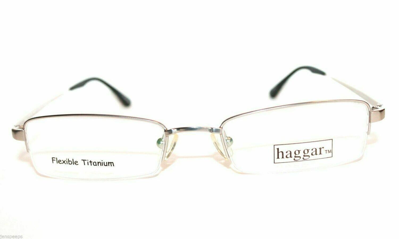 New Haggar HFT522 Semi Rimless Flexible Titanium new in package eyewear 53 eye