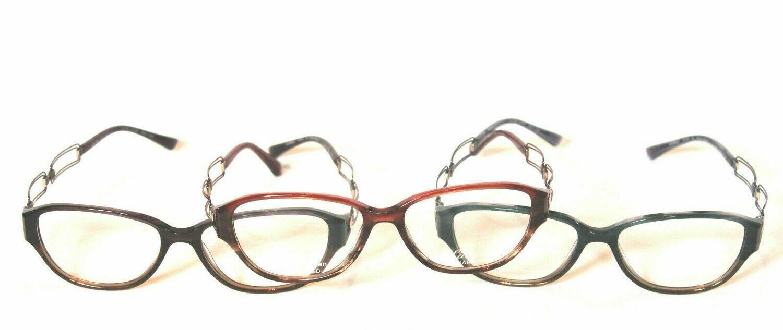 3 Charmant Line Art Women's Eyeglasses 2033 Red, Purple and Blue Optical Frame