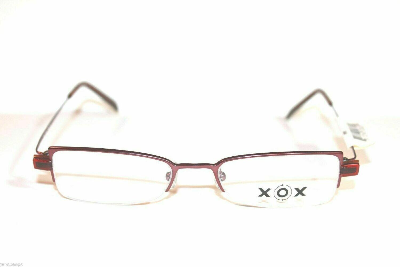 AUTHENTIC AND NEW XOX 208 eyeglasses eyewear semi rimless Dark Blue