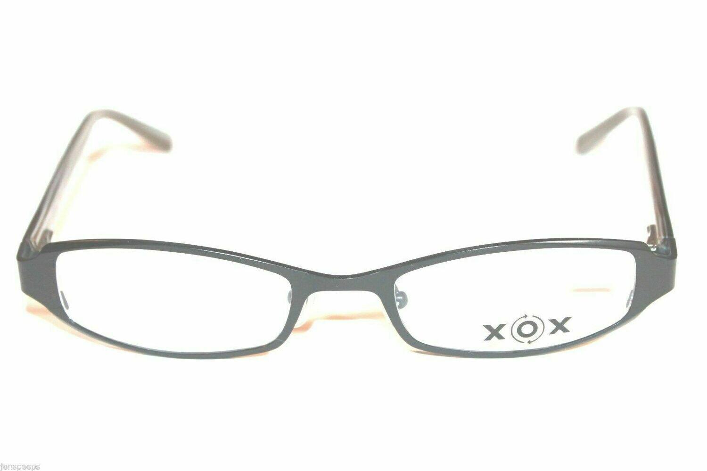 AUTHENTIC AND NEW XOX 225 eyeglasses eyewear Black with stones frames