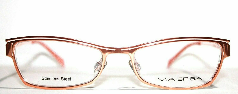 Via Spiga eyeglass frames Model Candela in Peachy Keen or Huckleberry eyewear