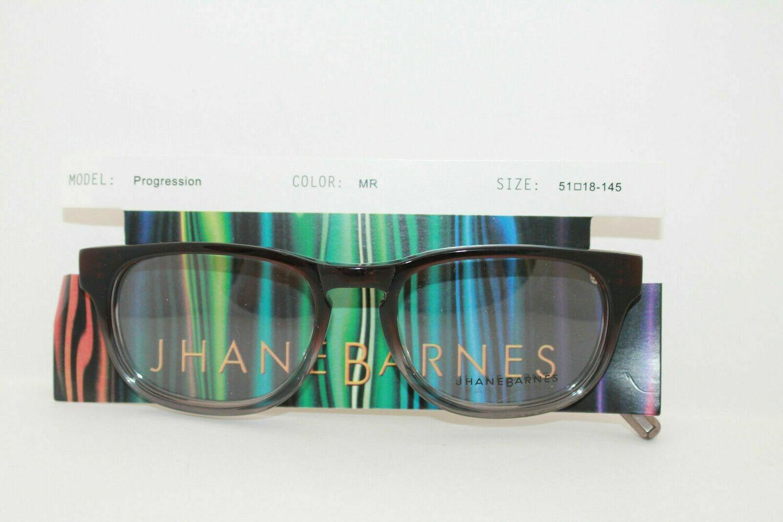 NEW Jhane Barnes Progression Rx Eyeglass Frames in Maroon 51-18-145 RARE