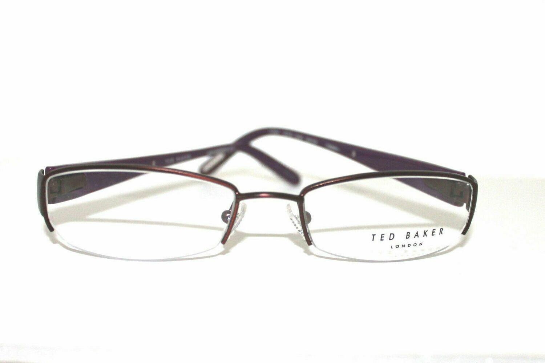 TED BAKER Women's semi rimless eyeglasses Model 179 Lavish in eggplant 50-18-135