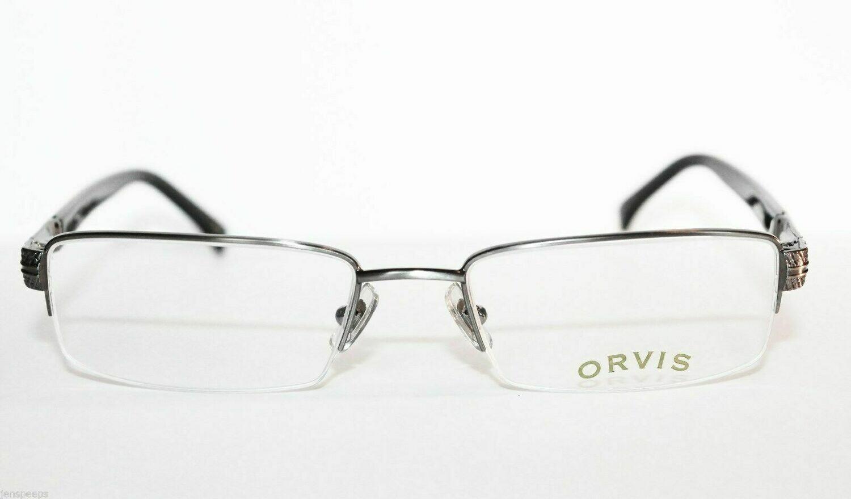New ORVIS Trenton Semi Rimless in Gunmetal new in package eyewear 53 eye