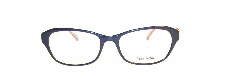 VERA WANG Eyeglasses V338 Navy 51-17-1350Authentic an New
