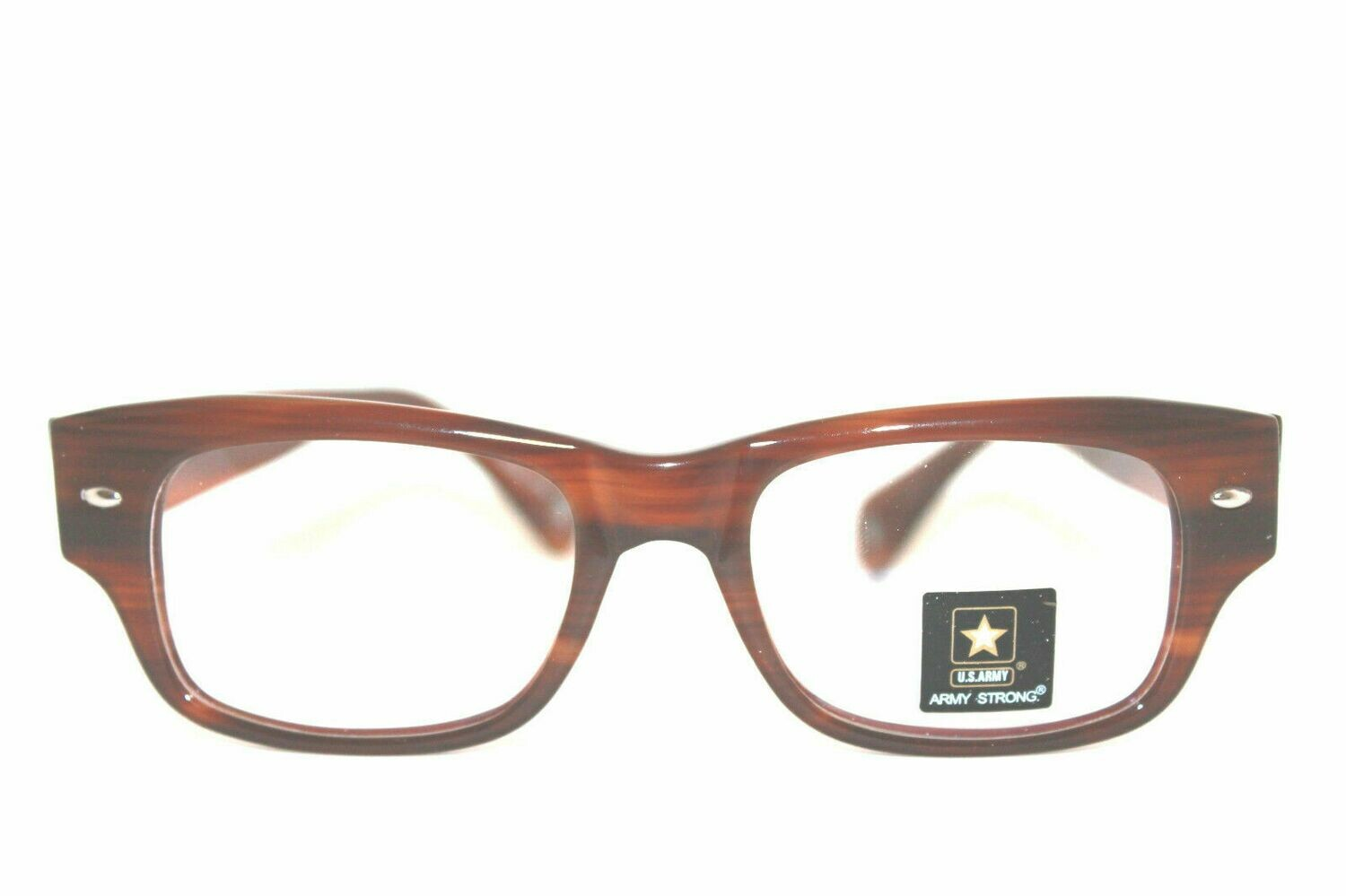 US Army eyeglasses Fort in Demi Amber 50-19-145 New with case