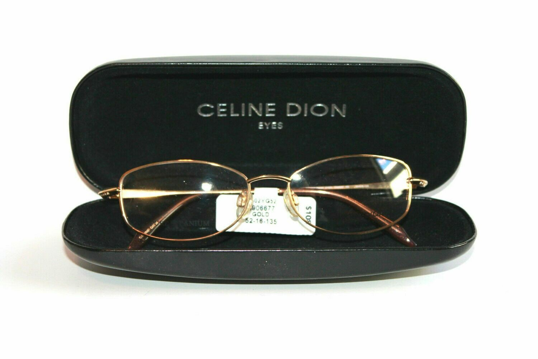 Authentic & New Titanium Celine Dion eyeglass frames 8502 Swarovsky crystals