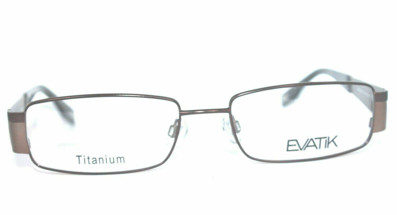 AUTHENTIC & NEW EVATIK 9016 Titanium Color 134 Brown 56-18-145 Last one