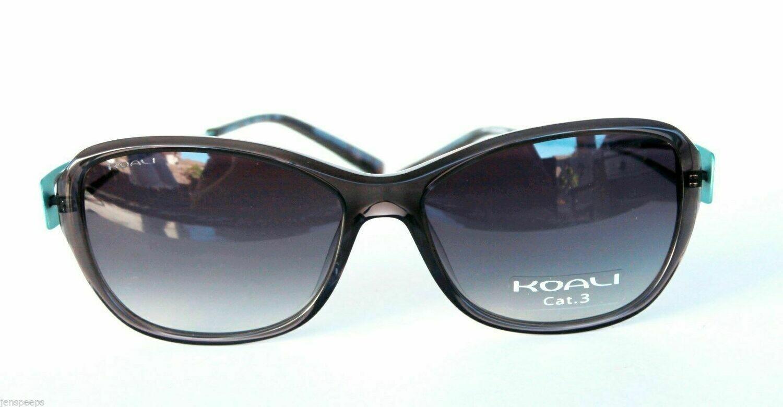 New Koali Sunglasses 727K Brown and Teal Prescription Friendly sunwear