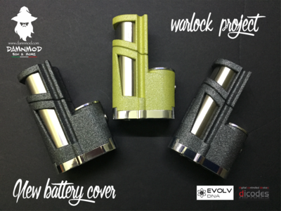 TOP COVER EXTENSION 18650 FOR WARLOCK PROJECT