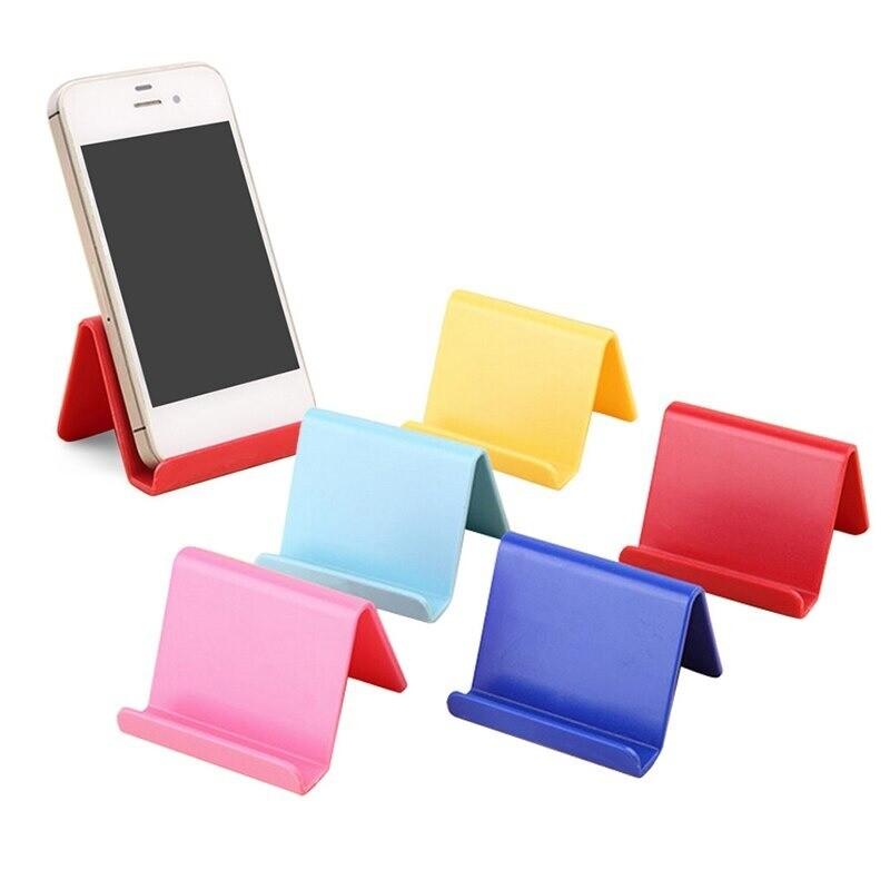 Mini-Kunststoff-Handyhalter für alle Arten von Handys (Farbe nicht wählbar)