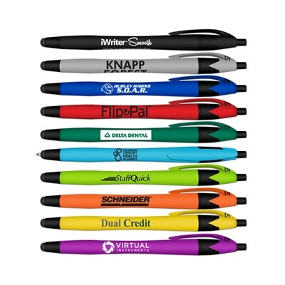 iWriter Smooth - Soft Touch Rubberized Ball Point Pen and Stylus