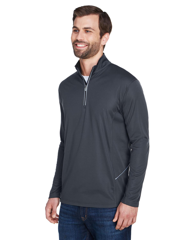 UltraClub Men's Cool & Dry Sport Quarter-Zip Pullover