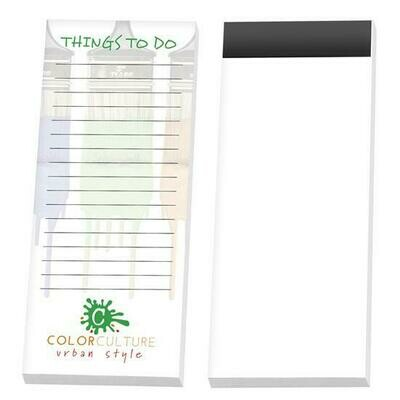 "3"" x 8"" Adhesive Note Pad with Magnet, 25 Sheet"