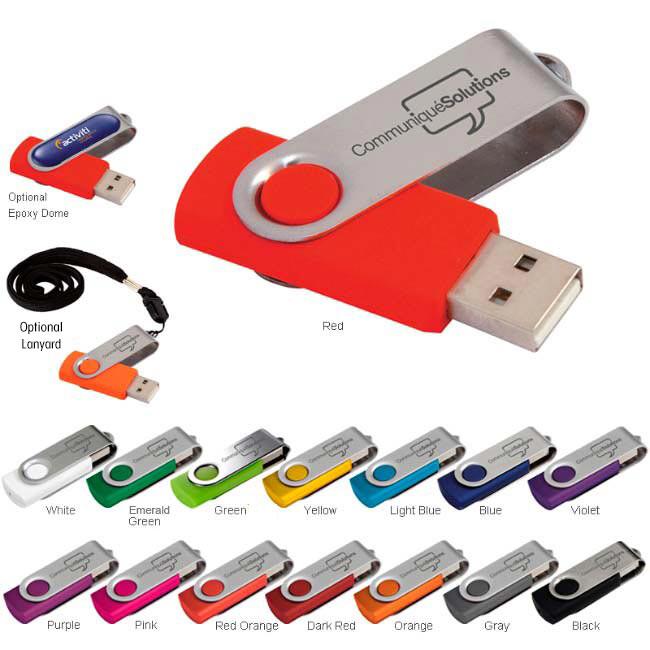 4 GB Folding USB 2.0 Flash Drive