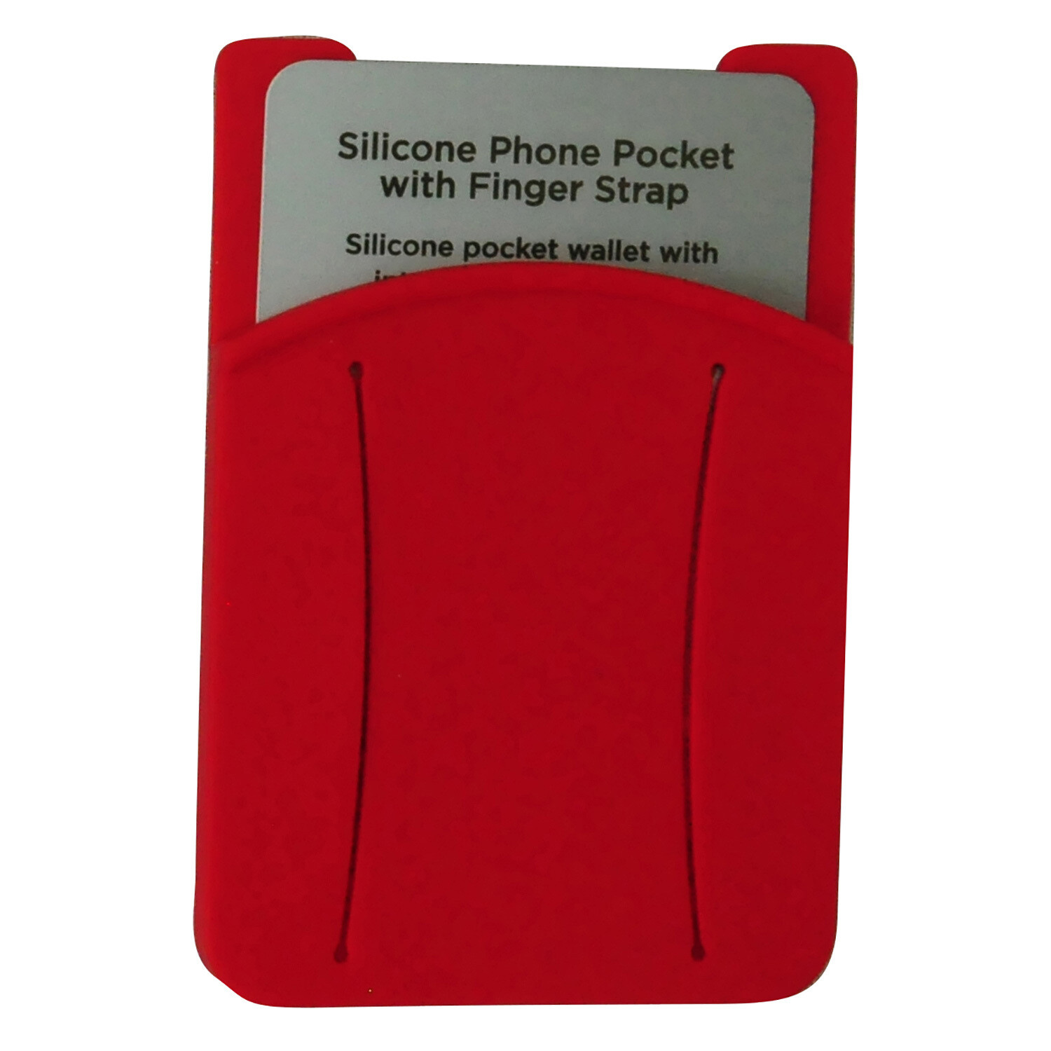 Silicone Phone Pocket With Finger Strap