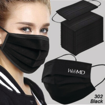 Black Disposable Face Mask - 3 Layered Health Protection