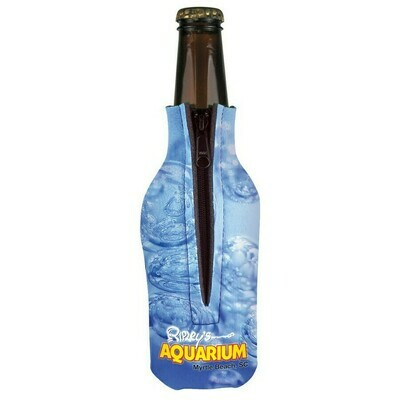 Full Color Bottle Zipper Scuba Coolie