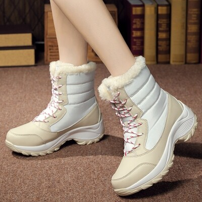 Oxford Lady Snow Boots Winter Waterproof Warm Snow Boots Woman