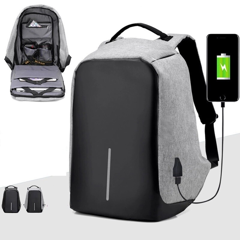 Backpacks/Laptop/Computer/Bag with Headphone Port, Lock/USB Charging/14inch Laptop/ 4 colors