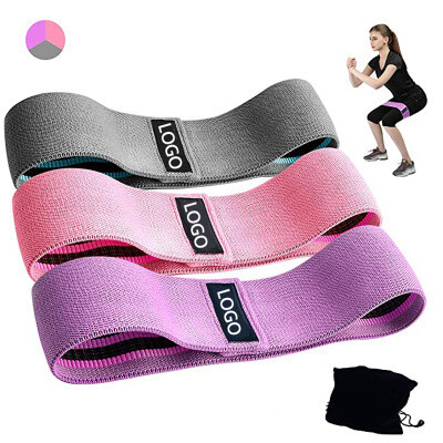 Hot Color/Elastic Leg Exercise/Cotton Fabric Workout Fitness hip circle resistance bands of Set 3