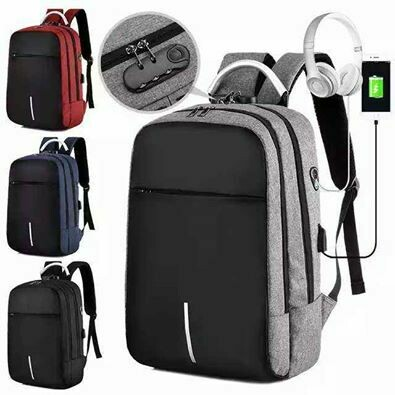 Hot Sell Backpack/ Anti-theft/sac a dos/ 4 colors/USB port/Headpone port