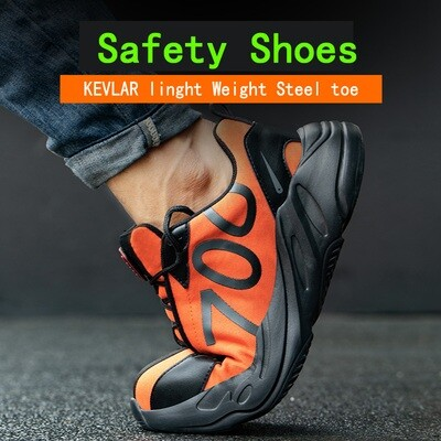 Amazon Fashion High-Quality Walking Casual Shoes Steel Toe Caps Men Safety Shoes