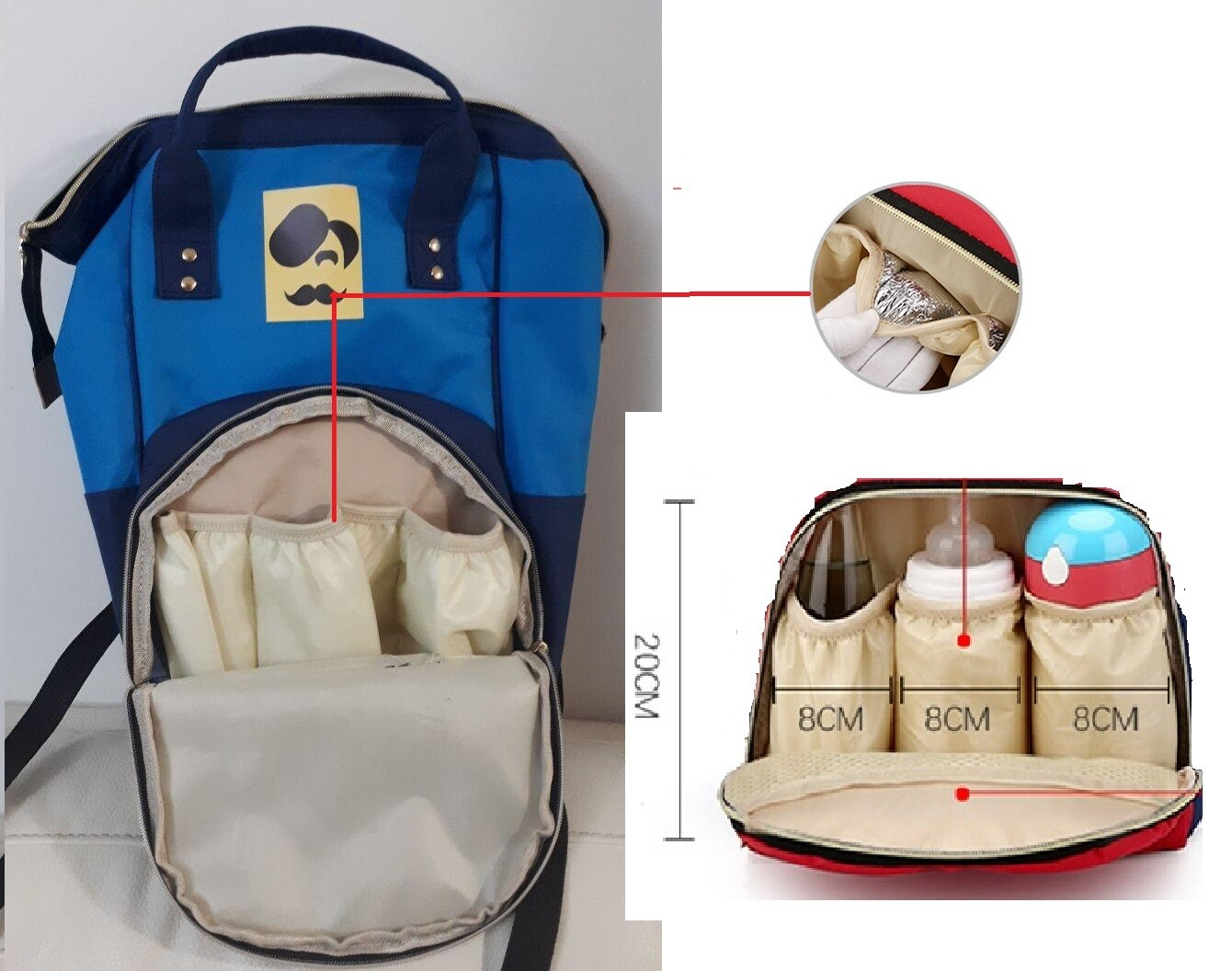 Waterproof Travel Anti-theft Mom Back Pack Fashion Baby Nappy Changing Bag Backpack Mommy Mummy Diaper Bag