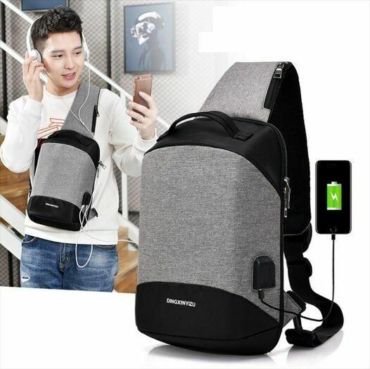 Smart Anti Theft USB Charging Sling/Bag/Sport/Outdoor/Backpack/unisex
