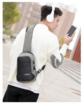 2020 Anti-theft/Water-Resistant/Crossbody/Messenger Bag/Sling/Chest Bag /USB/Charging Port