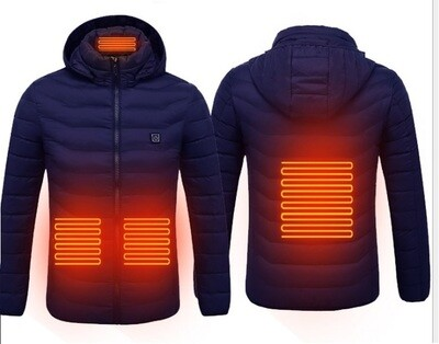 Heated Jacket/USB Electrical Battery/Lightweight Heating/Winter/Temperature Controlled[Red/Black]
