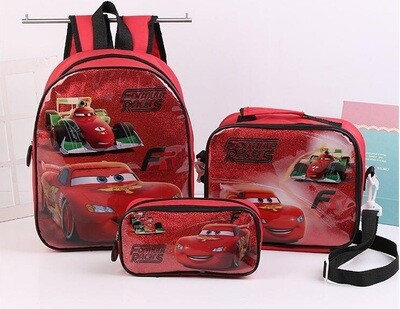 3D Kids funny school bags and lunch bag set 3