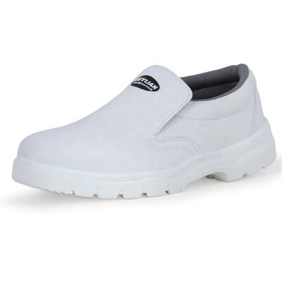 Nurse Safety  shoes/White Anti Slip ESD Woman comfortable /genuine Leather medical / Hospital/Chef Safety Shoes