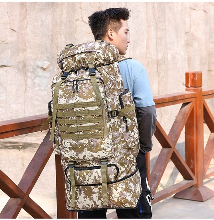 Army Backpack /Hunting Bags Molle Sports / 100L 600D Nylon Tactical Military Rucksack Training