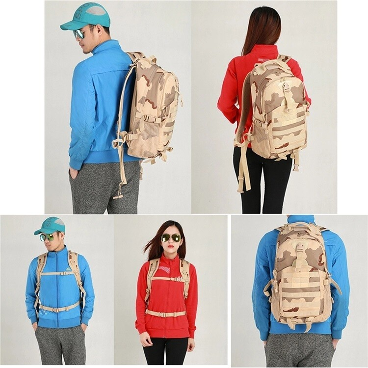 Tactical Backpack Outdoor / 800D Combination / Shoulder Military / Travel Camping Hiking Trekking