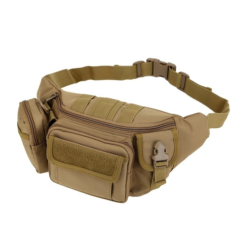 Camouflage Multi-Pocket Fanny Bag