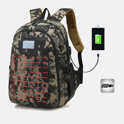 Camouflage Backpack/ 3D Outdoor Leisure Travel Large Capacity USB